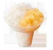 ミスドのかき氷コットンスノーキャンディ、白桃.png